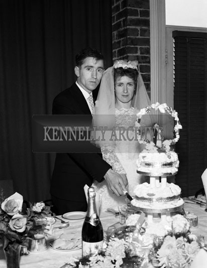 August 1962; A photo taken at the Bowler/McGuinness Wedding which took place at St John's Church and was followed by the reception at the Meadowlands Hotel.