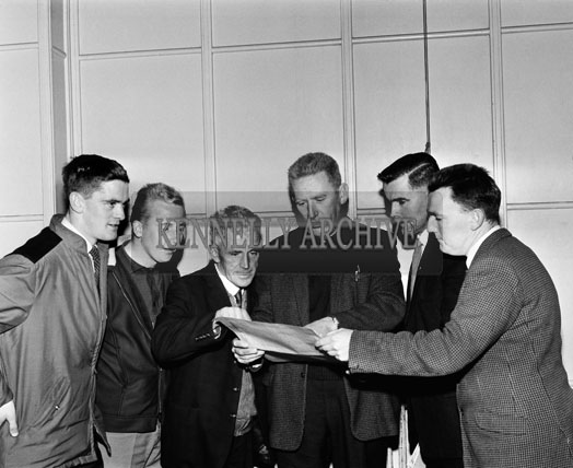 November 1964; A photo taken at the Brass Rail Trophy Basketball Blitz in the CYMS in Tralee.