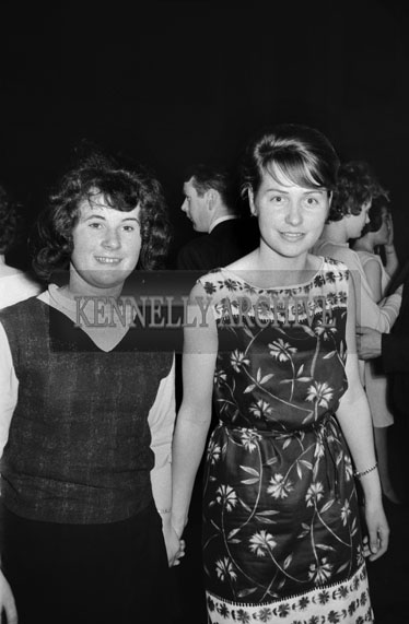 22nd November 1964; People enjoying themselves at the Basketball Dance in the CYMS, Tralee.