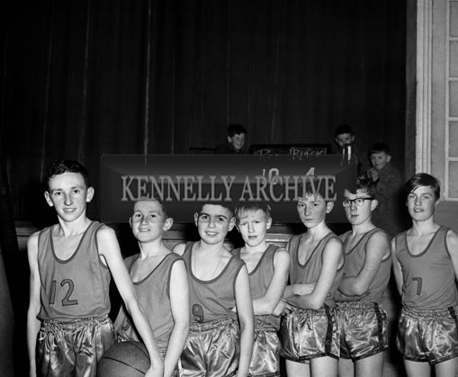 16th February 1964; Brian Tess's Team at the Rock Juvenile Basketball League in the CYMS Tralee.