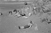 1953; People Relaxing On The Beach On Valentia Island.