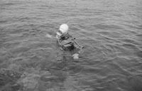 1953; A Diver In The Water Off Valentia Island.