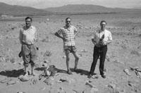 1953; Three Men Enjoying Themselves On The Beach On Valentia Island.