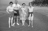 1953; A Photo Of Group Of People Posing For The Camera On The Beach At Valentia Island.