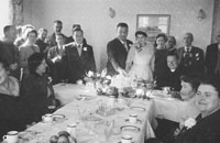 1953; The Newlyweds Cut The Cake At A Wedding Reception At The Royal Hotel On Valentia Island.