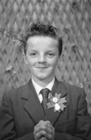 Studio Photo Of A Confirmation Boy