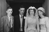 Studio Photo Of A Wedding Party