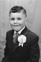 Studio Photo Of A Communion Boy