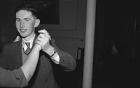 December 1953/January 1954; A Couple Dancing At A Social At The Meadowlands Hotel.