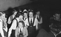 March 1954; Members Of The Kilflynn Drama Group.