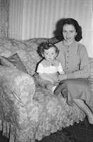 May 1954; A Studio Photo Of A Mother And Daughter.