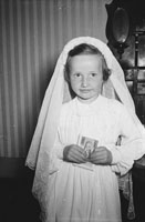 Studio Shot Of A Communion Girl