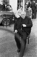 20th June 1954; A Photo Of Very Rev. Fr D F O'Sullivan Sitting Outside The Meadowlands Hotel, Tralee Where He Celebrated His Golden Jubilee.