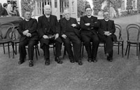 20th June 1954; A Group Of Clergy Celebrating The Golden Jubilee Of Very Reverend Fr D F  O'Sullivan At The Meadowlands Hotel, Tralee.