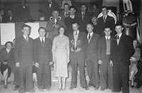 3rd February 1956; A Group Poses For The Camera For The Presentation Of Prizes At The Abbeydorney Plough Prize Dance.