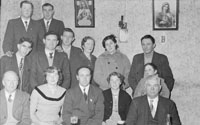 4th February 1956; Annie Mai Donegan, The Queen Of Plough With Con Slattery, Mr. Donegan And Billy Benner The Fordson Major Diesel Tractors Agent At Home With Other Friends And Family In Causeway.