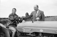 4th February 1956; Annie Mai Donegan, The Queen Of Plough With Billy Benner, The Fordson Major Diesel Tractors Agent, In Causeway.