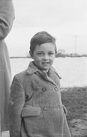 4th February 1956; A Young Boy At The Home Of Annie Mai Donegan, The Queen Of Plough, In Causeway.