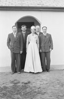 4th February 1956; Annie Mai Donegan, The Queen Of Plough, Dressed Up In Her Crown At Home With Friends In Causeway.