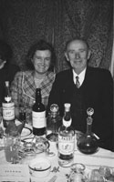 18th February 1956; A Couple At Their Table At St. Mary's Social Celebrating The South Kerry County GAA Championship Team In Caherciveen.
