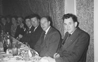 18th February 1956; A Group Of Men At Their Table At St. Mary's Social Celebrating The South Kerry County GAA Championship Team In Caherciveen.