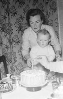 November 1956; A photo of the McCann Child taken during its First Birthday at home.