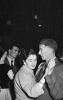December 1956; People enjoying the night at a dance with music performed by the Maurice Mulcahy Band.