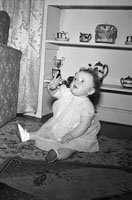 A Photo of a Baby at Home