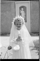 May 1956; A photo taken on communion day in Castleisland.
