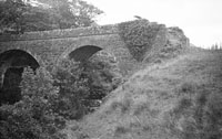 10th August 1956; A photo taken of a bridge along the Dingle Railway Line.