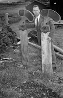 10th August 1956; A photo taken of Joe Treacy with Railway Signals on the site that was once the Dingle Railway Line.