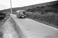 10th August 1956; A photo taken of a bus on the way to Dingle.