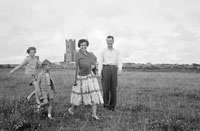 22nd July 1956; A photo taken of a family attending the Ballyheigue Feis.