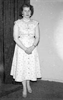 May 1957; A studio photo of Sheila Mahony.