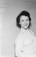 May 1957; A studio photo of Bridie Gallagher.