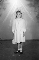 A Studio Photo of a Communion Girl