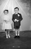 May 1957; A Communion photo of the Connell children, taken in the studio.