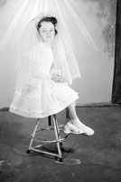 May 1957; A Communion photo of the Connell girl, taken in the studio.