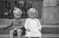 A Young Girl and Boy
