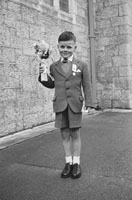 May 1957; A photo taken on communion day in Abbeyfeale.