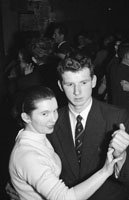 August 1957; A photo of people enjoying themselves at a dance.  Music at the dance was provided by the Maurice Mulcahy Showband.
