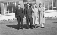 9th March 1957; A photo taken at the wedding reception of Rose Herlihy and John Joe Kelliher, Lough Beg, Castlegregory, in the Meadowlands Hotel, Tralee.