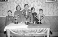 Children with Kerins O'Rahillys Trophies