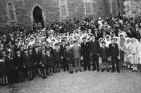 May 1957; A photo taken of the Children on Confirmation Day in Ardfert.