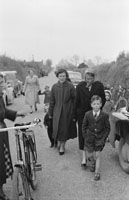 May 1957; A family head for the church on Confirmation Day in Ardfert.