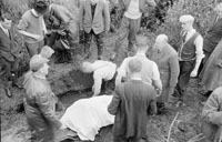 November 1958; The body of 46 year old murdered farmer Mossie Moore is found in a stream near his home in Raemore after a search that lasted for eight days.