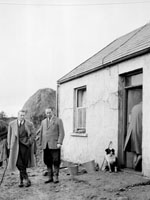 November 1958; A photo taken during the search for the missing local Mossie Moore. The search continued for eight days until the body of the 46 year old farmer was found in a stream near his home in Raemore.