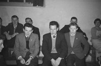 May 1960; A group of men at a dance in Millstreet.
