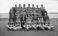14th May 1961; A photo of the Kerry Senior Football Team in Croke Park on the day of the National Senior Football League Final when they defeated Derry 4-16 to 1-5.