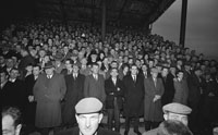 11th November 1962; The crowd in the stand at Austin Stack Park watching the Senior County Championship Final Replay between Feale Rangers and John Mitchels. The final score in the match was John Mitchels 1-9 to Feale Rangers 0-5.